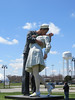 embracing peace (timp37) Tags: statue crown point indiana embracing peace 2018 april world war 2 soldier nurse kiss art