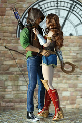 the hero always gets the girl (photos4dreams) Tags: phicen doll puppe 16 canoneos5dmark3 canoneos5dmarkiii tabletopphotography puppenstube diorama silicone silicon lebensecht jamesfranco actor schauspieler silikon biegsam bendable move photos4dreams p4d photos4dreamz wheat skin toy smooth photos photo seamless dress flowery style play fashion mode fashionistas outfit kleider actionfigure dianaprince wonderwoman hiddensword comic dc galgadot dccomics princessofthemyscira superhero kitbash oliverqueen greenarrow shooter