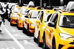 The color of New York City! (Bhargav Kesavan) Tags: cityscape city urban streetphotography taxiphoto streetphoto photography road street newyorktaxi manhattan newyorkcity nyc yellow yellowtaxi taxi