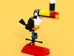 RenderForHila (LegoOri) Tags: lego toy toys construction toucan guinness beer stout weathervane bird rooftop