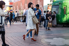 Red Shoes Coming Through (burnt dirt) Tags: asian japan tokyo shibuya station streetphotography documentary candid portrait fujifilm xt1 laugh smile cute sexy latina young girl woman japanese korean thai dress skirt shorts jeans jacket leather pants boots heels stilettos bra stockings tights yogapants leggings couple lovers friends longhair shorthair ponytail cellphone glasses sunglasses blonde brunette redhead tattoo model train bus busstation metro city town downtown sidewalk pretty beautiful selfie fashion pregnant sweater people person costume cosplay red orange white blue brown