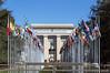 ONU (Fil.ippo) Tags: unog onu theunitednationsofficeatgeneva palaisdesnations geneve ginevra switzerland svizzera bandiere palazzo building filippo filippobianchi d5000 nikon nazioniunite flags