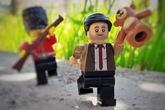 where he escapes (filipposartoris) Tags: mr bean lego blocks brick celebrity photoofday filippo sartoris
