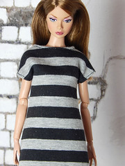 Capsule Collection – the black and grey striped dress shirt (Levitation_inc.) Tags: ooak doll clothes clothing fashion fashions dolls handmade etsy levitation levitationfashion royalty fr fr2 nuface poppy parker barbie made move outfit black white basic basics capsule collection wardrobe dahlia