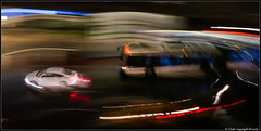 NYC Traffic at Night 1 (RedMudPup) Tags: blur bus car icm nyc newyork night
