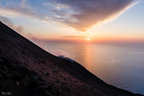 Coucher de soleil au Stromboli
