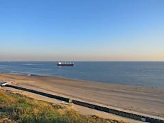 Beach at Dishoek (arjenvanveldhuisen) Tags: zeeland zoutelande duinen strand dishoek dunes ship westerschelde canon