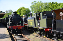 Stored steam locomotives at Horsted Keynes (davids pix) Tags: horsted keynes station bluebell railway southern u class 1638 31638 secr c 592 31592 lbscr e4 473 32473 lswr b4 dock tank 96 30096 2018 17052018