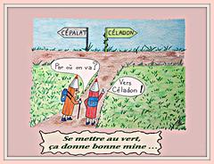 Vers Céladon (MAPNANCY) Tags: dessins crayonsdecouleur céladon vert