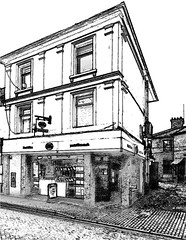 The Post Office, Tring (Snapshooter46) Tags: postoffice tring highstreet shop monochrome blackandwhite photosketch building