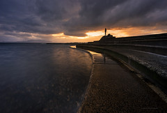 The view to Arran (chrismarr82) Tags: nikon scotland saltcoats ayrshire sunset arran view clouds sixstop filter sea