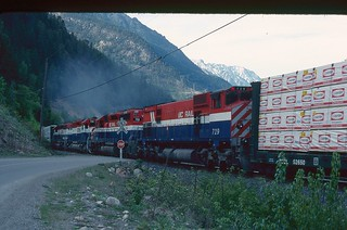#16 's helpers leaving Darcy, BC May 3rd 1990 BCR SCENE SHOTS002
