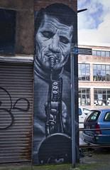 By Peter Sheridan (f22photographie) Tags: streetart streetscene urbanart urban wall brickwork liverpoolcitycentre bayhorselaneliverpool musicalinstruments contrastmuralfestival2018