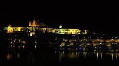 The Castle (Luc1659) Tags: notturno notte castello praga fiume river città riflessi luce castle