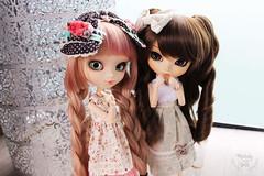 My two girls (~ Melody and the dolls ~) Tags: pullip pullips doll dolls custom obitsu rewigged wig