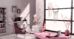 Dreamy (desiredarkrose) Tags: ariskea cheekypea rsd fameshed mainstorerelease whatnext jian secondlifedecor secondlifehome sldecor slblog stockholmlima matress pinkroom bloom decor interior furniture