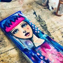 My queen. #Willowing #willowingarts #mixedmedia #mixedmediaart #artistsofinstagram #tamaralaporte #art