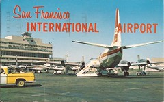 SFO16b (By Air, Land and Sea) Tags: airport postcard aircraft airplane airline sfo california sanfrancisco sanfranciscointernationalairport psa lockheed electra