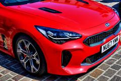 Red Stinger (SteveJ442) Tags: car automobile vehicle transport stocktonontees kia stinger korean sportscar nikon