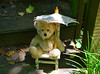 Umbrella Required (BKHagar *Kim*) Tags: bkhagar teddy bear teddybear animal toy stuffed minka umbrella outdoors sunshine sunny hot htbt happyteddybeartuesday