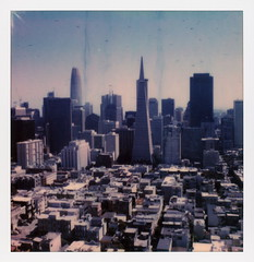 San Francisco Skyline (tobysx70) Tags: polaroid originals color 600 instant film slr680 san francisco skyline coit tower telegraph hill california ca cityscape landscape vista view transamerica pyramid salesforce transbay skyscraper highrise office polavacation 042618 toby hancock photography