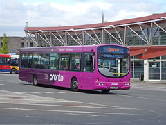 trent barton 609 Mansfield (Guy Arab UF) Tags: trent barton 609 fj03vvx scania l94ub wright solar mansfield bus station pronto nottinghamshire wellglade buses wellgladegroup