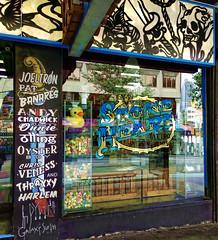 Stone Heart - Tattoo, Piercing & Laser (boeckli (On Vacation)) Tags: sydney windows windowwednesdays window fenster text reflection reflections spiegelung laden shop shopwindow store sign signs schild australia newsouthwales