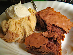 Ice Cream And Brownie Dessert. (dccradio) Tags: lumberton nc northcarolina robesoncounty indoors inside food eat snack spoon peanutbutter icecream whippedcream whippedtopping breyers reesespiecesicecream peanutbuttercupicecream brownie brownies coolwhip dessert sweet treat treats sweets unhealthy canon powershot elph 520hs