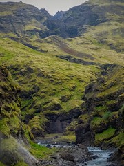 Camping in Iceland (shapeshift) Tags: roadtrip icelandroadtrip streams riverside river mountain mountainscape fz80 icelandringroad ringroad wanderlust icelandisgreen greeniceland davidpham davidphamsf shapeshift shapeshiftnet nature naturerules camping seljavallalaug southernregion iceland is