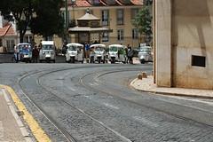 Tuk Tuk Stand (H&T PhotoWalks) Tags: tuktuk taxistand taxi streetscape street lisboa lisbon portugal canon28135 canoneos350d alfama iv