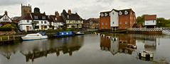 TEWKESBURY (chris .p) Tags: tewkesbury gloucestershire england nikon d610 view spring 2018 reflections water boats narrowboat uk april mill avon river abbey capture