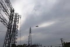A SMALL AIRPORT, SOME PARKS AND CLOUDS - CLIV (Jussi Salmiakkinen (JUNJI SUDA)) Tags: koganei tokyo japan cityscape landscape 小金井市 武蔵野 多摩 東京 日本 風景 spring april powerline tama powerlines aircraft airplane sky may toukokuu
