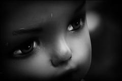 DOLLS - EYES (Ageeth van Geest) Tags: sundaylights portrait portret face zwartwit monochrome blackandwhite bw ogen pop eyes dolls doll's doll smileonsaturday eyecatching