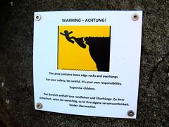WARNING – ACHTUNG ! (Jan Egil Kristiansen) Tags: img2694 warning danger cliff fall trælanípa