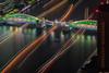 Trails in der Dark (kbaranowski) Tags: ©2013krzysztofbaranowski krzysztofbaranowski japan japaneseculture tokyo kachidoki bridge lighttrail sumidagawa sumidariver