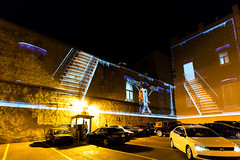 montréal 23 (Tasmanian58) Tags: parking night street light montreal quebec canada insolite sony a7ii batis zeiss batis218
