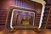 Hamburg - Up and down the stairs (Karsten Gieselmann) Tags: 714mmf28 braun deutschland em5markii germany hamburg mzuiko microfourthirds olympus slomanhaus treppe brown kgiesel m43 mft staircase stairs