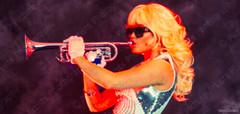 Maria Durbani (Jordi Rombo) Tags: durbani mariadurbani trumpet spanishbarbie spanish barbie singer model blonde silver white maria durban doecencia urban durbanis dubai armani bar durba gothic doll black rose concert