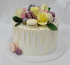 Mothers day drip, macaron, roses cake (jennywenny) Tags: drip cake macaron roses birthday mothers day buttercream