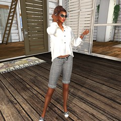 I.M. Collection @ Designer Showcase- Bahama Shirts and Shorts (Xiomara Lavendel) Tags: designershowcase monthly event imcollection casualchic stealthic hair meva accessories kccouture elleboutique shoes vista xiomaralavendel secondlifemodel slmodel slfashion secondlifefashion secondlife