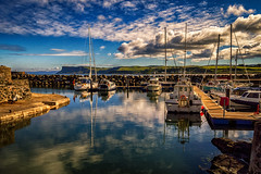 Ballycastle Marina (Trevor Bowling) Tags: marina boats reflection sky clouds ballycastle ireland d3200 nikon