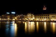 Luzern during night (Carandoom) Tags: night switzerland luzern water light lake