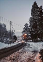 * (PattyK.) Tags: ioannina giannena giannina epirus ipiros balkans hellas ellada greece grecia griechenland europe europeanunion nikond3100 snapseed amateurphotographer ιωάννινα γιάννενα γιάννινα ήπειροσ ελλάδα βαλκάνια ευρώπη winter snow urban city urbanlandscape snowingreece afternoon dusk urbanlife urbannight απόγευμα χειμώνασ ιανουάριοσ χιόνι 2017 trees road street