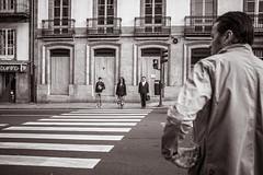waiting patiently (2) (Gerard Koopen) Tags: spanje spain santiagodecompostella straat street streetlife straatfotografie streetphotography candid people waiting blackandwhite blackandwhiteonly fujifilm fuji x100t redlight 2017 gerardkoopen gerardkoopenphotography