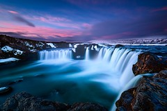 Godafoss at sunrise (luke.switzerland) Tags: iceland godafoss nature landscape nikon d810 waterfall longexposure