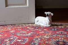 Be a Lamb and Hold the Door (The Good Brat) Tags: missouri us door carpet lamb antique old rug doorstop