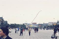 Beijing, China, 1998 (elevenmonthsinexile) Tags: beijing china chinongenesisiii film kites people streetscenes tiananmensquare