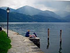 sosta / rest (frank28883) Tags: lagodorta ortalake ortasee lacdorta sosta rest lago montagne prealpi lagoprealpino