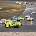 #911 Porsche 911 GT3 R - Manthey Racing leading the field thumbnail