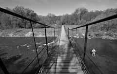 bridge over the Biały Dunajec (rafasmm) Tags: bridge over biały dunajec bw blackwhite black white monochrome river out mountain poland polska sigma 1020 ex nikon d90